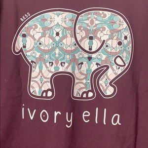 Ivory Ella Long Sleeve ~ Size XL ~ Dark Purple
